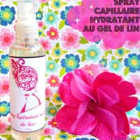 Spray capillaire hydratant au gel de lin