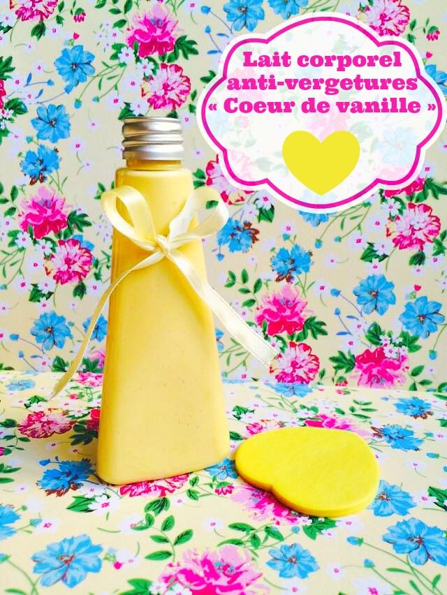 Lait corporel anti-vergetures «Coeur de vanille»
