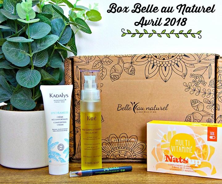 «Simplement irresistible»: la box Belle au Naturel du mois d'avril2018