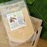 Pulpe de fruit de Baobab en poudre pour les cheveux bouclés