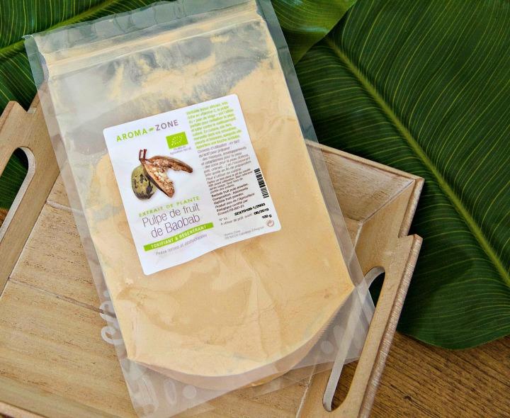 Pulpe de fruit de Baobab en poudre pour les cheveuxbouclés